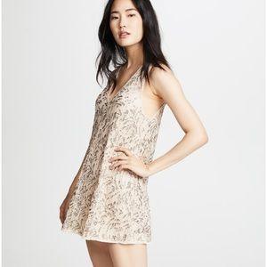 Free People Shine on mini beaded lace dress Size S